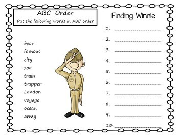 Finding Winnie    46 pgs of Common Core Activities.