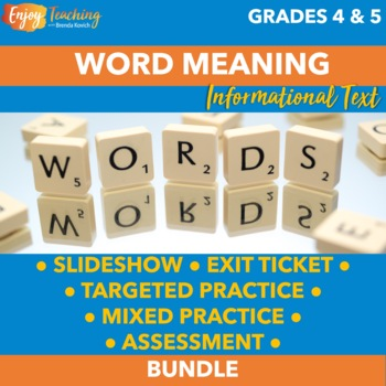 Finding Word Meaning - Third and Fourth Grade Informational Text Unit