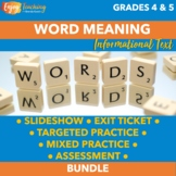 Determining Meaning of Unknown Words in Informational Text Bundle