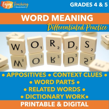 Finding Word Meaning Practice Pack