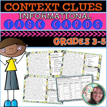 Finding Word Meaning Using Context Clues: Task Cards
