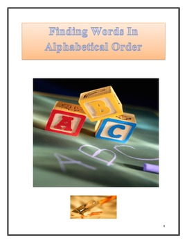 Finding Word's in Alphabetical Order