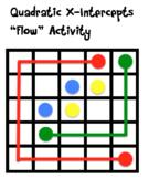 "Finding X-Intercepts of Quadratics ""Flow"" Activity"