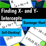 Finding X and Y Intercepts Scavenger Hunt Activity