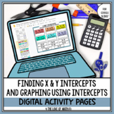 Finding X and Y Intercepts and Graphing Activity Pages For
