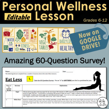 Health Lesson: How to Get Healthy!  60-Question Personal W