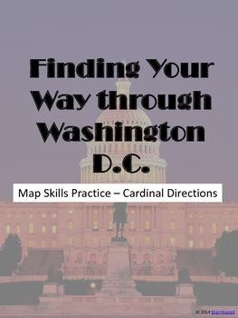 Finding Your Way Through Washington DC - Cardinal Directions Practice