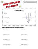 Finding Zeros of Quadratic Equations