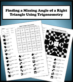 Finding a Missing Angle Using Right Triangle Trigonometry Color Worksheet