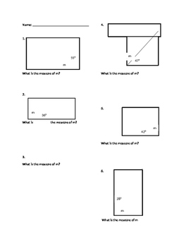 Finding a Missing Angle in a Rectangle