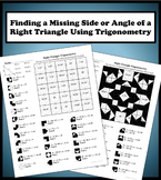 Finding a Missing Side/Angle Using Right Triangle Trigonometry Color Worksheet