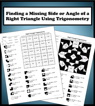 Finding a Missing Side/Angle Using Right Triangle Trigonom