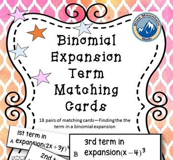 Finding a Term in a Binomial Expansion Matching Card Set