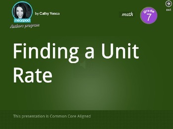 Finding a Unit Rate
