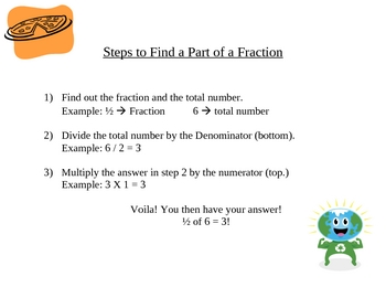 Finding a part of a fraction