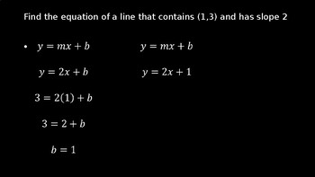 Finding an Equation of a Line - PowerPoint Lesson (11.5)