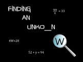 Finding an Unknown