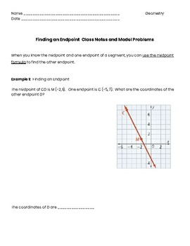 Finding an endpoint guided notes