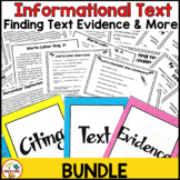 Finding and Citing Text Evidence Reading Passages BUNDLE