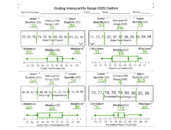 Finding and Comparing Interquartile Range (IQR)
