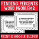 Finding and Estimating Percentages Word Problems Task Cards