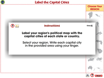Finding and Labeling the Capital Cities - Activity - MAC Gr. 6-8
