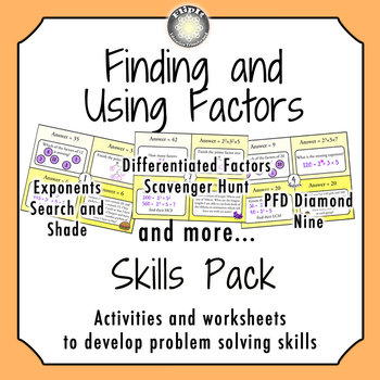 Finding and Using Factors Skill Pack
