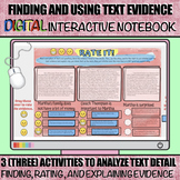 Finding and Using Text Evidence: Digital Interactive Notebook