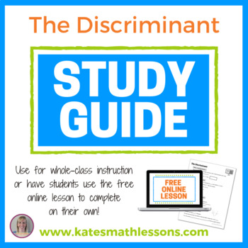 Finding and Using the Discriminant Study Guide