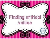 Finding critical values