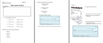 Basic Math Skills- Finding discounts and tips (worksheet included) (SMART BOARD)
