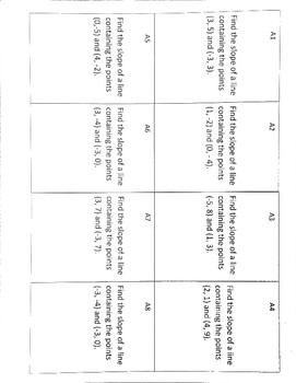 Finding equations of lines / Parallel/ Perpendicular lines Tiered card activity