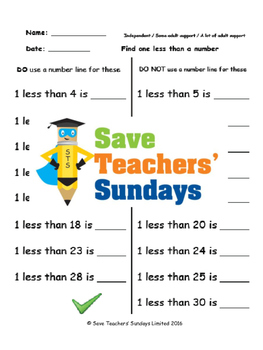 Finding less lesson plans, worksheets and more