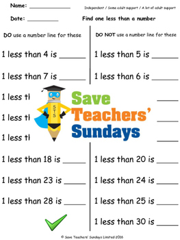 Finding less worksheets (4 levels of difficulty)