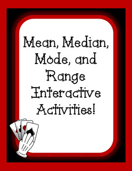 Finding mean, median, mode, and range using playing cards!