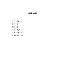 Finding slope and equations from points