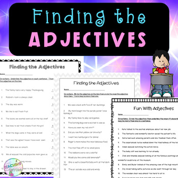 Finding the Adjectives