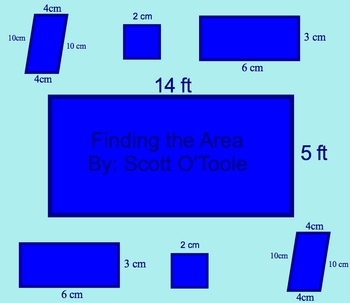 Finding the Area Math Smartboard Lesson