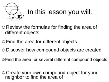 Finding the Area of Compound Objects