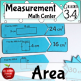 Finding the Area of Rectangles Math Center Activity