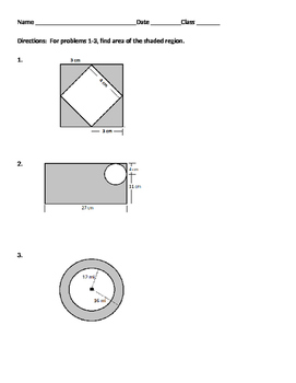 """2D Geometry 05 - Finding the Area of """"Shaded Regions"""""""
