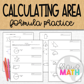 Area of Circles, Trapezoids, Triangles & Rectangles: Practice Worksheet