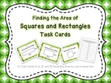 Finding the Area of Squares and Rectangles Task Cards