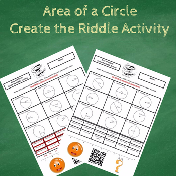 Finding the Area of a Circle Create the Riddle Activity