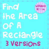 Finding the Area of a Rectangle Worksheet