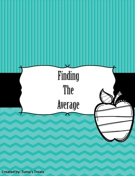 Finding the Average Worksheets