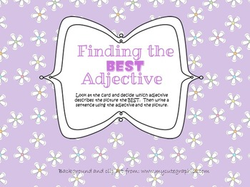 Finding the BEST Adjective