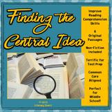 CENTRAL IDEA & SUPPORTING DETAILS: Mini-lesson with Non-Fi