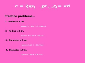 Finding the Circumference of a Circle