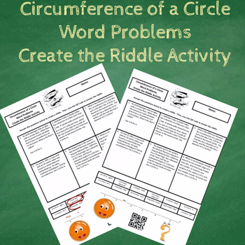 Finding the Circumference of a Circle Word Problems Create the Riddle Activity